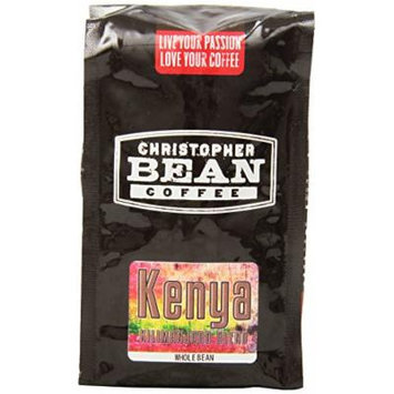 Christopher Bean Coffee Whole Bean Coffee, Kenya Blend, 12 Ounce