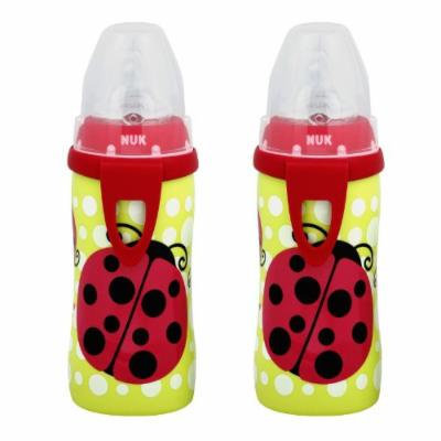 NUK Active Cup with Clip - 10 Ounce, Ladybug - 2 Pack