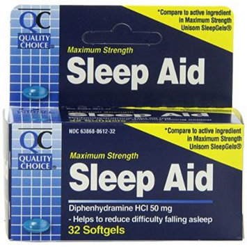 Quality Choice Maximum Strength Sleep Aid Softgels, 6 Count