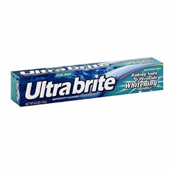 Ultra Brite Baking Soda & Peroxide Whitening Anticavity Fluoride Toothpaste, Cool Mint , 6 Oz (Pack of 6)