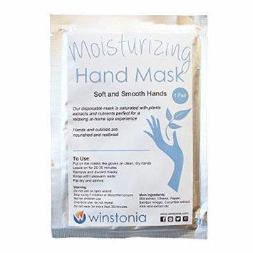 Winstonia Moisturizing Hand Mask Natural Ingredient Nourish Skin, Restore Cuticle Heath Soft and Smooth