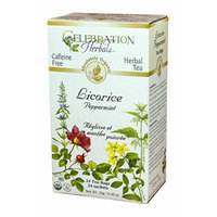Licorice Peppermint Tea Organic by CelebrationHerbals 24 Bags