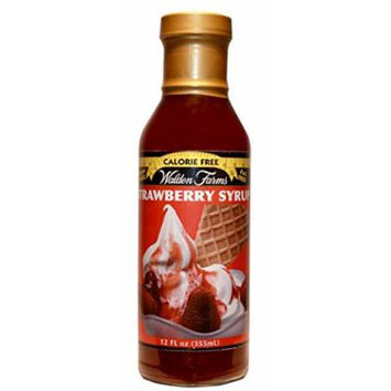 Walden Farms Strawberry SYRUP - Sugar Free, Calorie Free, Fat Free, Carb Free, Gluten Free - 2 Bottle