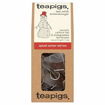 teapigs Spiced Winter Red Tea, 15 Count (Pack of 6)