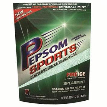 Pepsom Sports Spearmint Epsom Salt 3 Lb