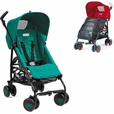 Peg-Perego Pliko Mini Stroller w Pliko Mini Boot, Charcoal (Aquamarine)