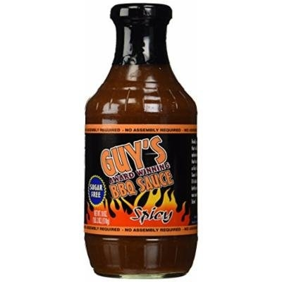 Guy's Award Winning Sugar Free Spicy BBQ Sauce, 18 oz