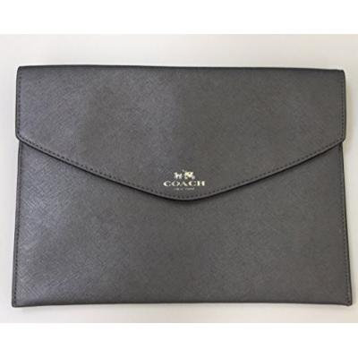 Coach Darcy Leather Medium Envelope Pouch Black