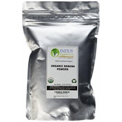 Indus Organic Banana Powder, 16 Oz, Sulfite Free, No Added Sugar, Freshly Packed