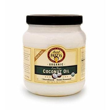 Aunt Patty's Organic Unrefined Extra Virgin Coconut Oil, 54 Fluid Ounce