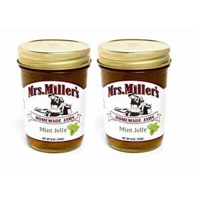 Mrs Millers Mint Jelly (Amish Made) ~ 2 / 8 Oz. Jars