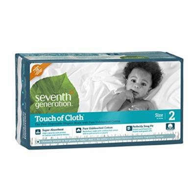 Seventh Generation Touch of Cloth Diapers, Size 2, 144 Count