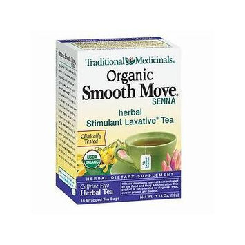 Traditional Medicinals Caffeine Free Organic Herbal Tea, Smooth Move 16 bags