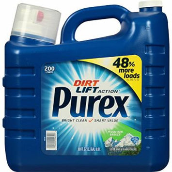 Purex Ultra Concentrated Liquid Detergent, Mountain Breeze, 300 Fluid Ounce