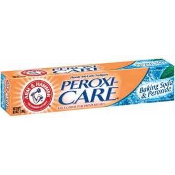 Arm & Hammer Peroxicare, Baking Soda & Peroxide Anti-Cavity Mint ToothPaste, Packaging May Vary, 6.0 Oz.(170g) (Pack of 6)
