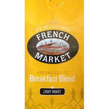 French Market Ground Coffee Breakfast Blend 12oz Bag