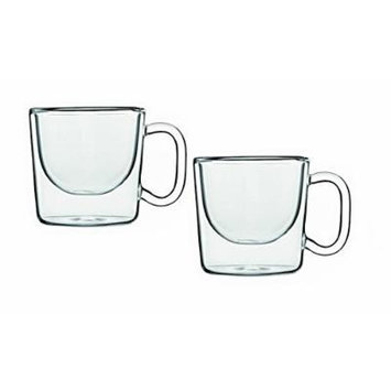 Luigi Bormioli India Double Wall Glass Espresso Coffee Cup, Set of 2