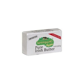 Kerrygold Pure Irish Grass-fed Butter, Unsalted, 8 Oz (Full Case 20 Pack)