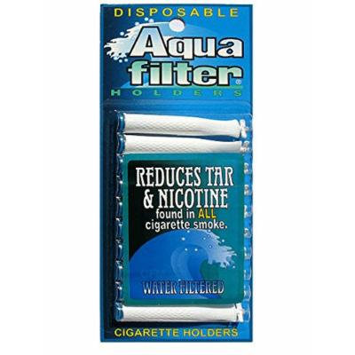 AquaFilter Disposable Cigarette Holders - 10 Filters Per Pack, Free TarTrap Brand Filters! (Pack of 20 (200 Filters))