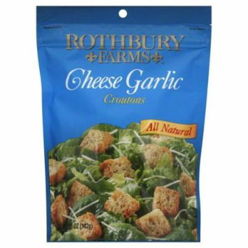 Rothbury Farms Cheese Garlic Croutons 6 oz - Pack of 12