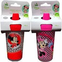 Disney Baby MINNIE MOUSE Sipper Cups Pack of 2 Happiness Is Just a Sip Away Spill Proof 10oz