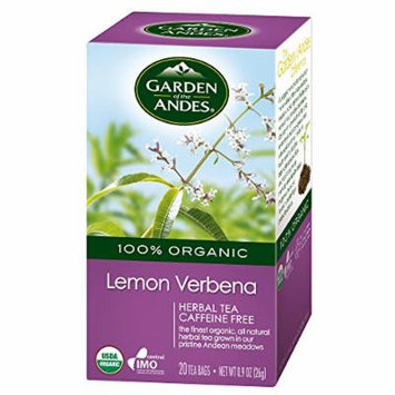 Garden of the Andes Lemon Verbena Organic Tea, 20 Count (Pack of 6)