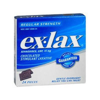EX-LAX CHOCOLATE LAXATIVE 24Tablets