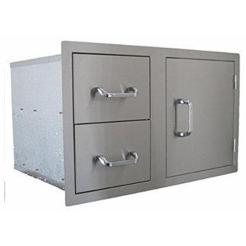 BeefEater 24230 Single Access Door & Double Drawer