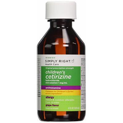 Member's Mark - Children's Cetirizine, Oral Solution 1 mg/mL, Grape Syrup, 8 fl oz