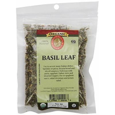 Aromatica Organics Basil Leaf Medium Cut, 0.6-Ounce (Pack of 6)