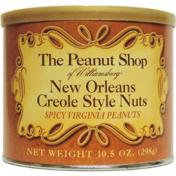 The Peanut Shop of Williamsburg New Orleans Creole Style Nuts, 10.5-Ounce Tins (Pack of 3)