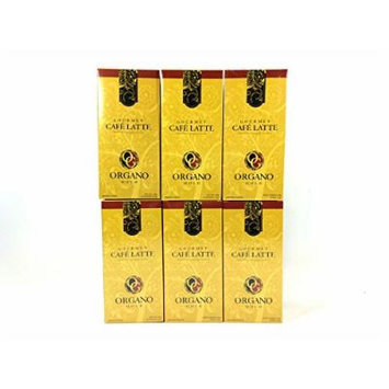 Organo Gold Cafe Latte 100% Certified Ganoderma Extract Sealed (Pack of 6)
