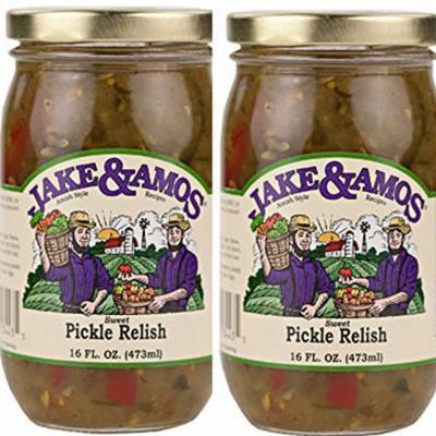 Jake & Amos Sweet Pickle Relish / 2 - 16 Oz. Jars