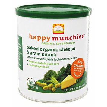 HappyBaby - Happy Munchies Organic Cheese & Veggie Snack Organic Broccoli, Kale & Cheddar Cheese - 1.63 oz. (Pack of 2)