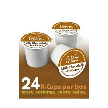Cafe Escapes Variety Pack * MILK CHOCOLATE & DARK CHOCOLATE Hot Cocoa * 48 K-Cups for Keurig Brewers