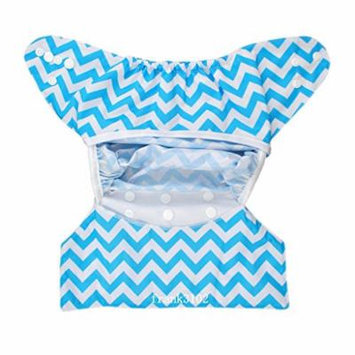Cloth Diaper Cover Snap Adjustable Waterproof Nappy Cover Double Gussets Chevron