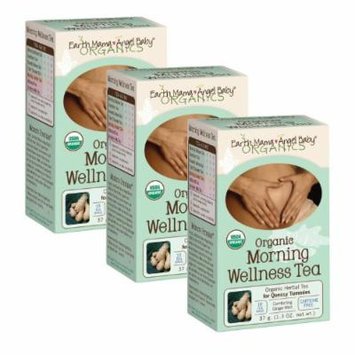 Earth Mama Angel Baby Organic Morning Wellness Tea (16 tea bags/box) - Set of 3