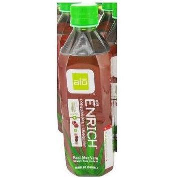 ALO - Original Aloe Drink Enrich Aloe + Pomegranate + Cranberry - 16.9 oz (Pack of 3)