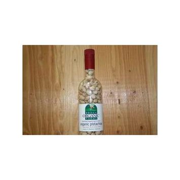 Braga Organic Farms Wine Bottle filled with Organic Pistachios