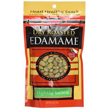 Seapoint Farms Dry Roasted Edamame, Lightly Salted, 4-Ounce Pouches