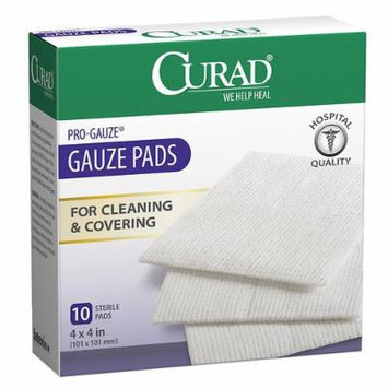 Curad Gauze Pads, 4 x 4 in 10 ea Pack of 5