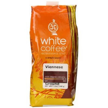 White Coffee Ground Coffee, Viennese, 12 Ounce