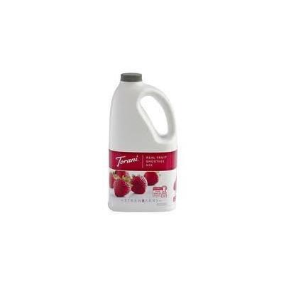 Torani Strawberry Real Fruit Smoothie (1 Single 64 Ounce Bottle-Half Gallon-1.89-liter bottle)