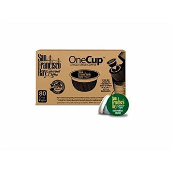 San Francisco Bay Coffee Fog Chaser, 80 OneCup Single Serve Cups