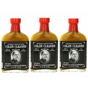 Professor Phardtpounders Colon Cleaner Hot Sauce, 3 - 6 Oz Bottles