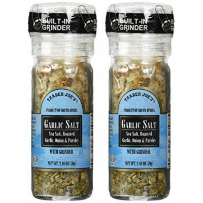 Trader Joe's Garlic Salt with Grinder, 2-Pack