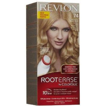 Revlon Root Erase By ColorSilk Ammonia-Free Permanent Color, #74 Medium Blonde (Pack of 3)