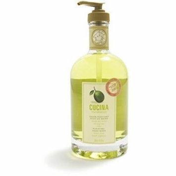 Cucina Purifying Hand Soap, Glass Dispenser Lime Zest 16.9 oz.