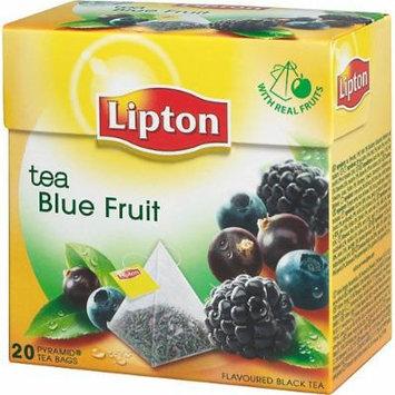Lipton Black Tea - Blue Fruit - Premium Pyramid Tea Bags (20 Count Box) [PACK OF 3]