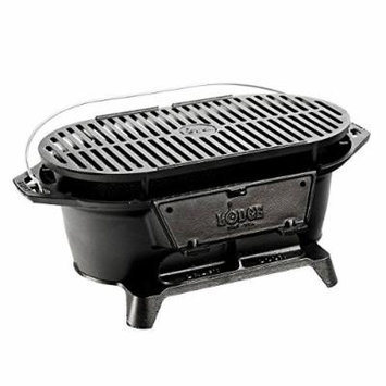 Premium Bbq Grill for Cooking Charcoal Portable Flat Top for Outdoor Patio Camping or Backyard in Cast Iron Small Tabletop Design